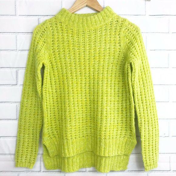 Field Flower Anthro Green Knit Sweater XS